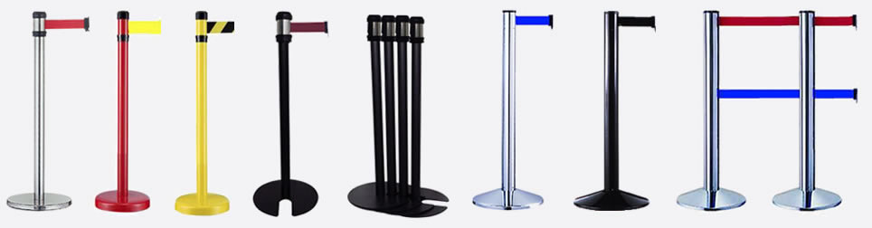 Queus-Safe Retractable Tape Barriers